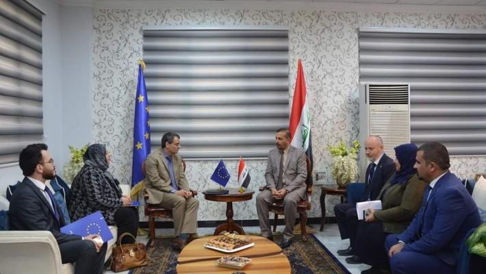سعادة سفير الاتحاد الأوربي في العراق ووفد اليونسكو يزوران الكلية التقنية الإدارية/بغداد